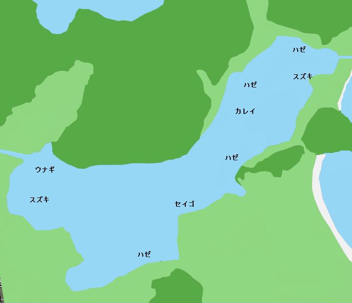 久々子湖ポイント図