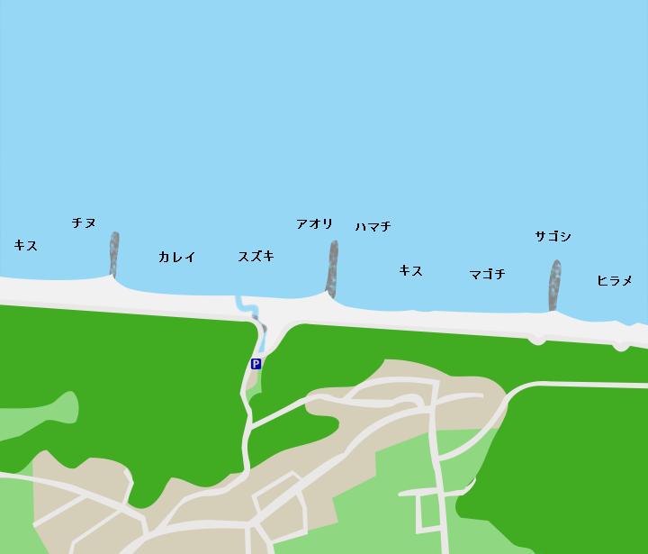 波松海岸ポイント図