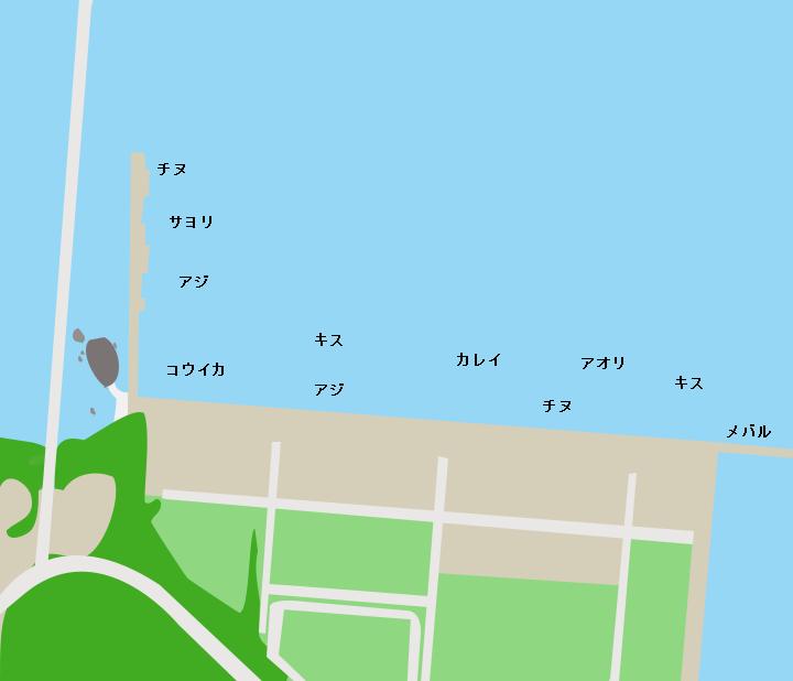 丹生漁港ポイント図