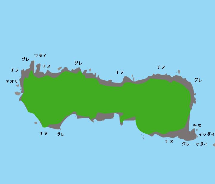 御神島ポイント図