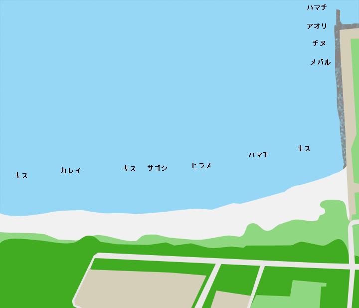 三里浜ポイント図