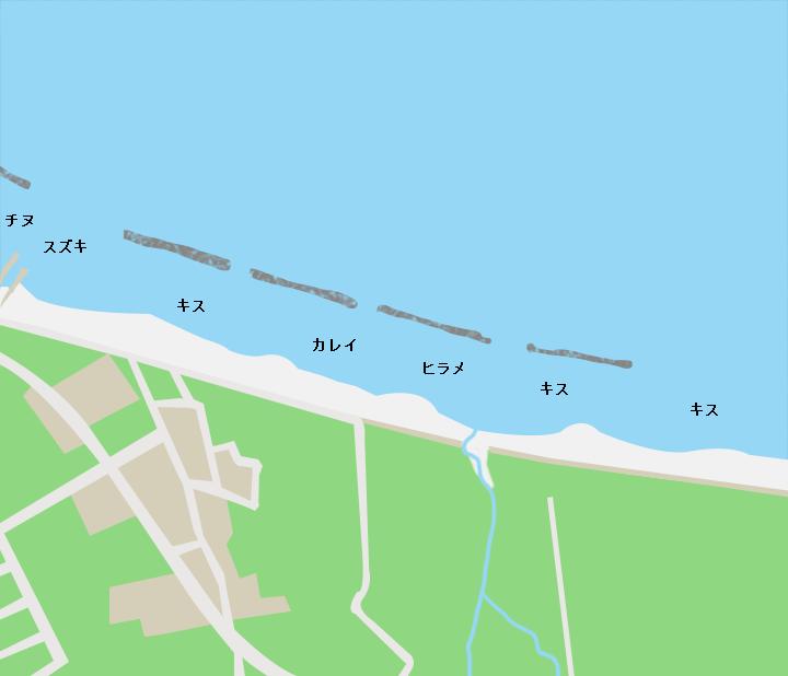 佐田海岸ポイント図