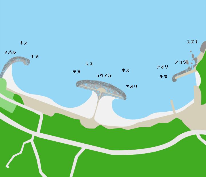 食見海水浴場ポイント図