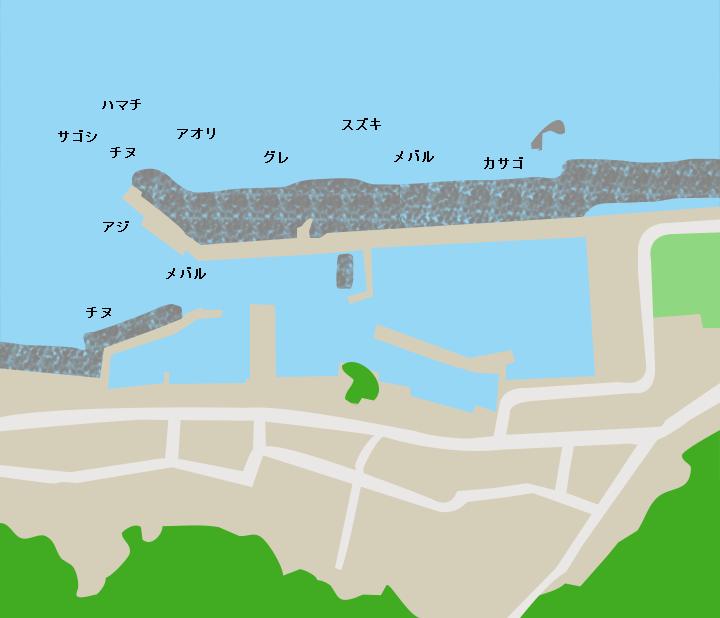 新保港ポイント図