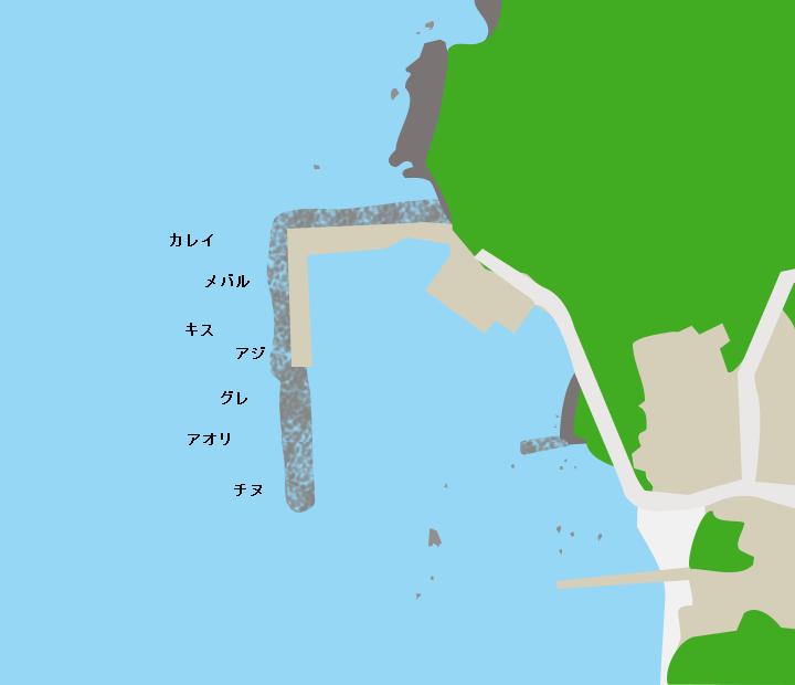 杉津漁港ポイント図