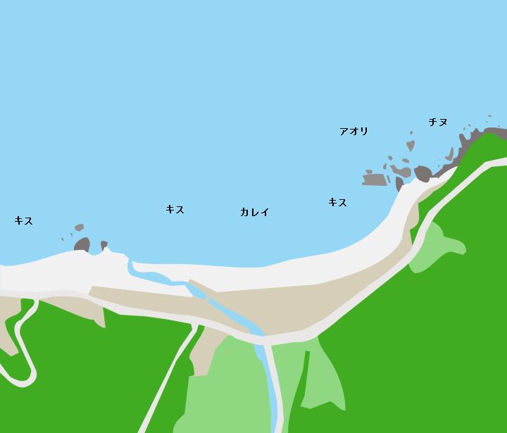 水晶浜ポイント図