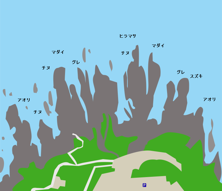 東尋坊ポイント図