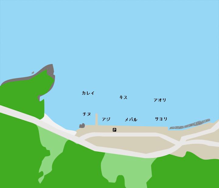 常神漁港ポイント図