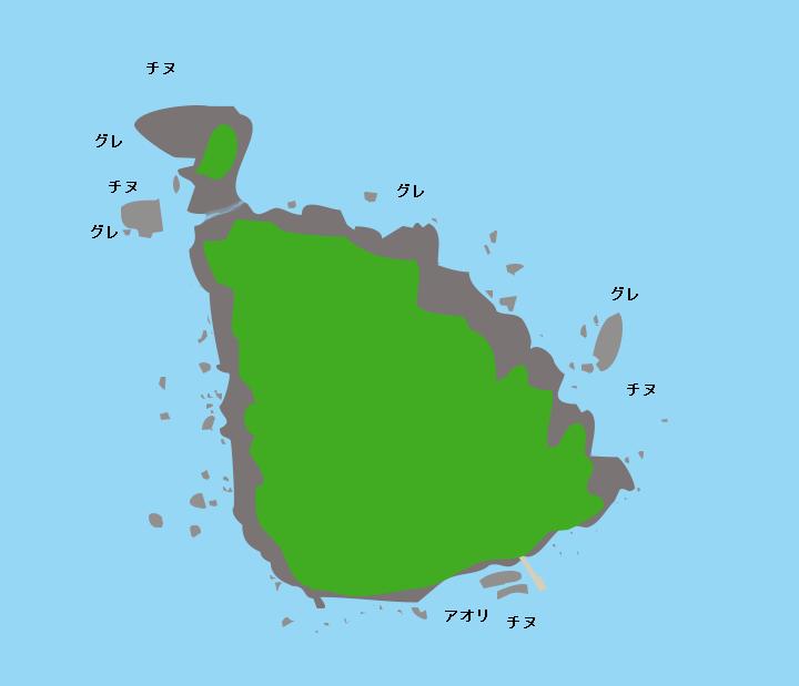 烏辺島ポイント図