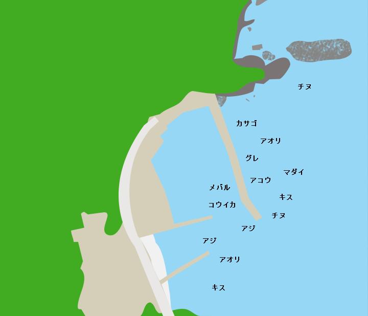 宇久漁港ポイント図