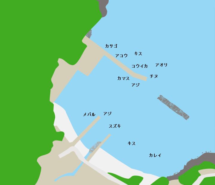 矢代漁港ポイント図