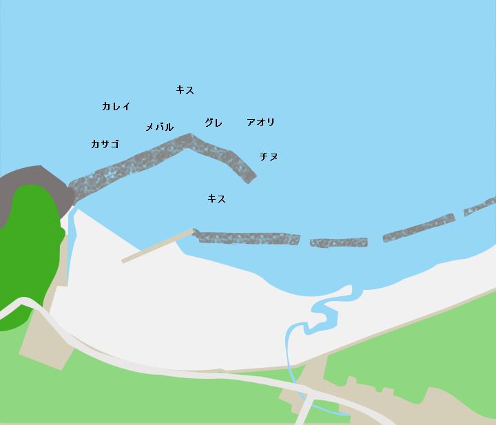 横浜海水浴場ポイント図