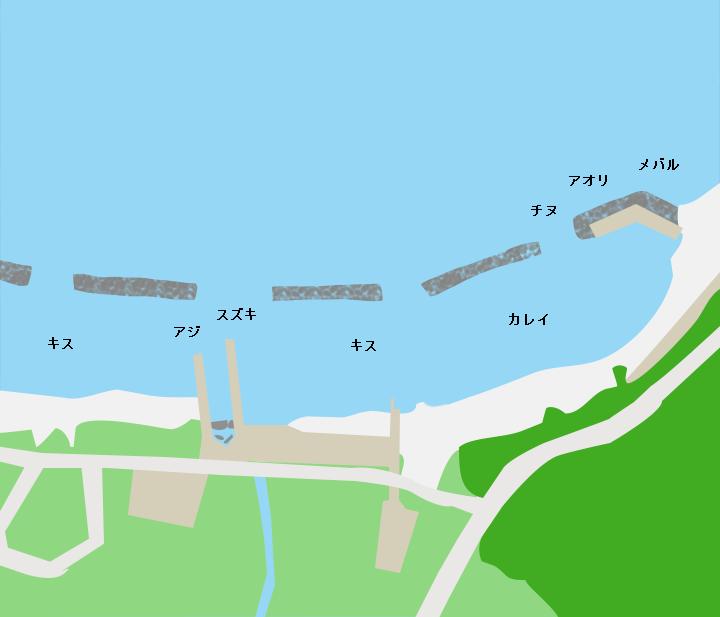 遊子海水浴場ポイント図