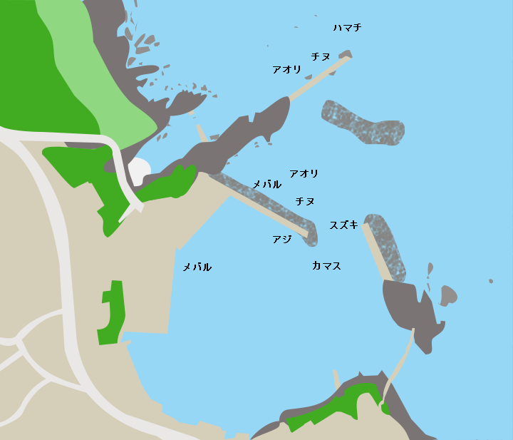 崎漁港ポイント図