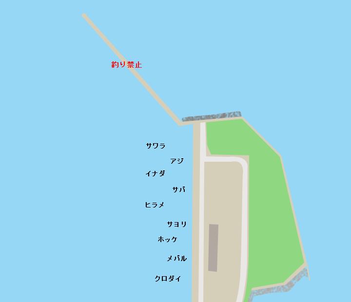 青森港新中央埠頭ポイント図