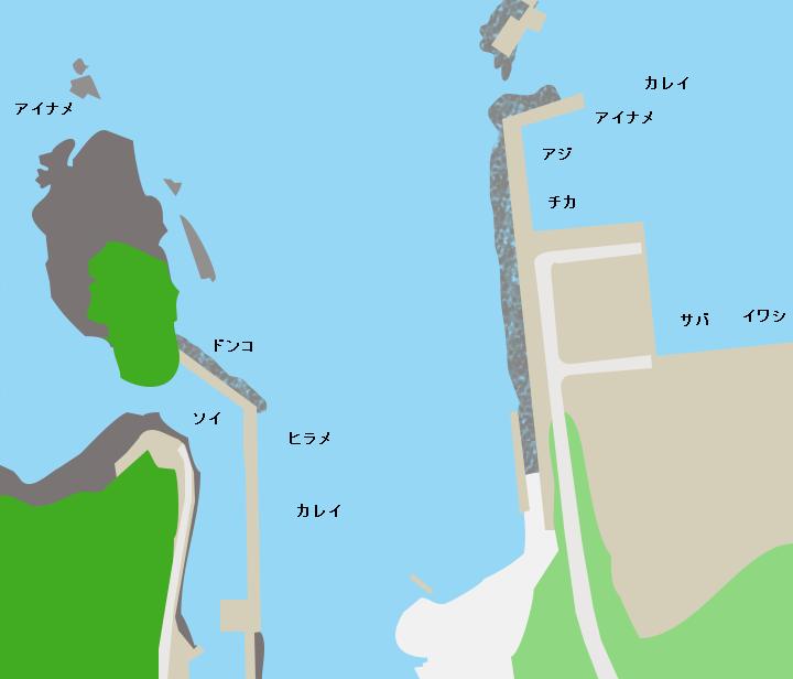 小本港ポイント図