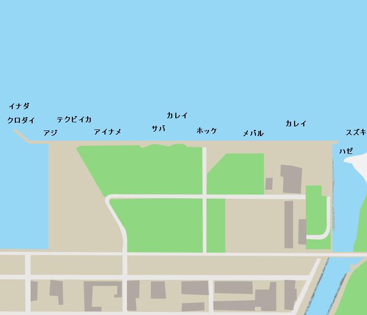 青森港木材埠頭ポイント図