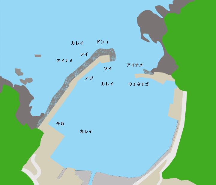 平井賀漁港ポイント図