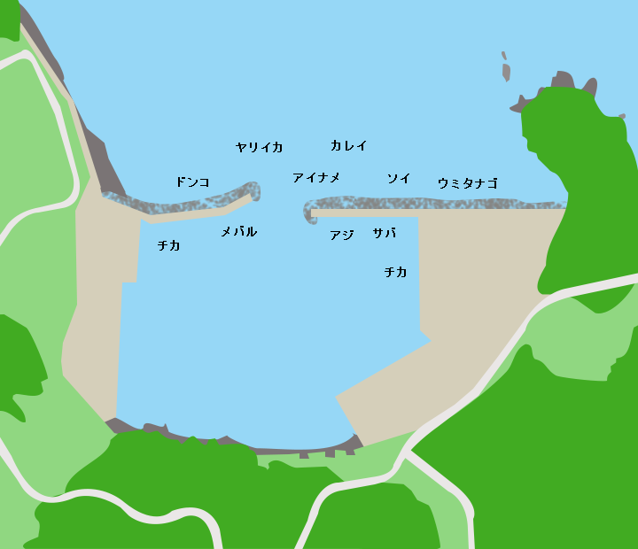 根岬漁港ポイント図