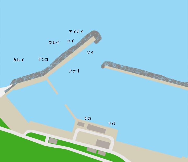 久喜漁港ポイント図