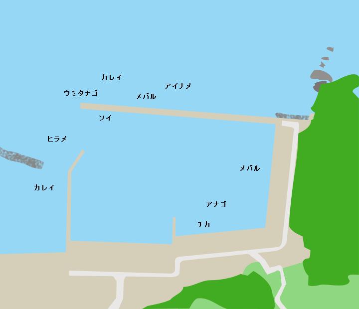 六ヶ浦漁港ポイント図