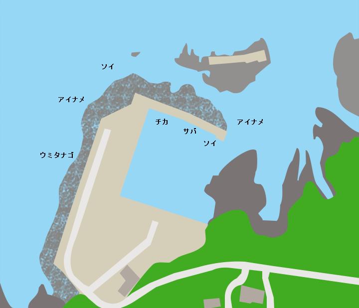 横沼漁港ポイント図