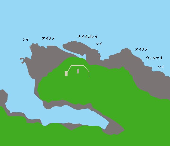 魹ヶ崎ポイント図