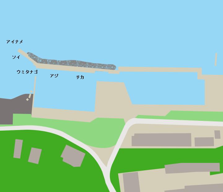 宿戸漁港ポイント図