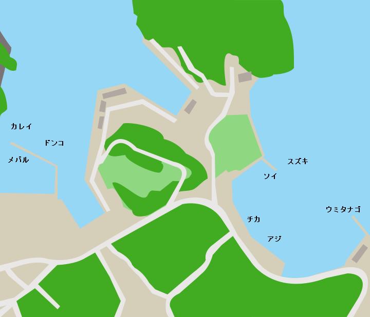 蛸ノ浦漁港ポイント図