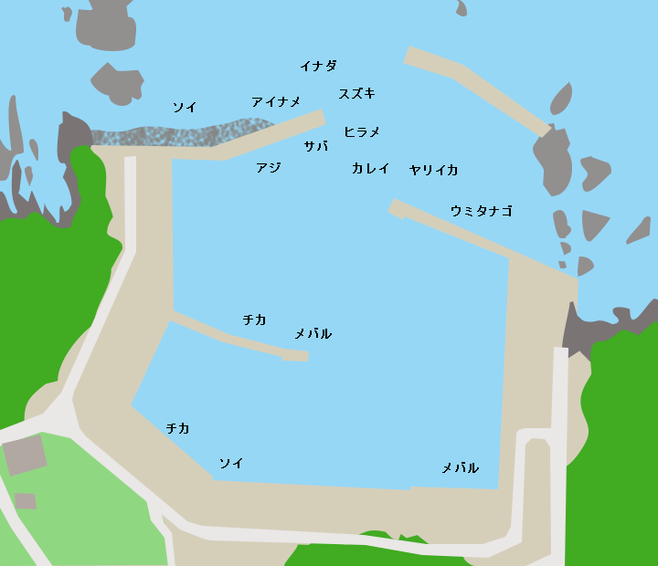 長崎漁港ポイント図