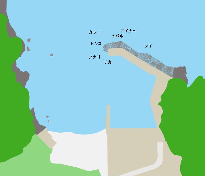合足漁港ポイント図