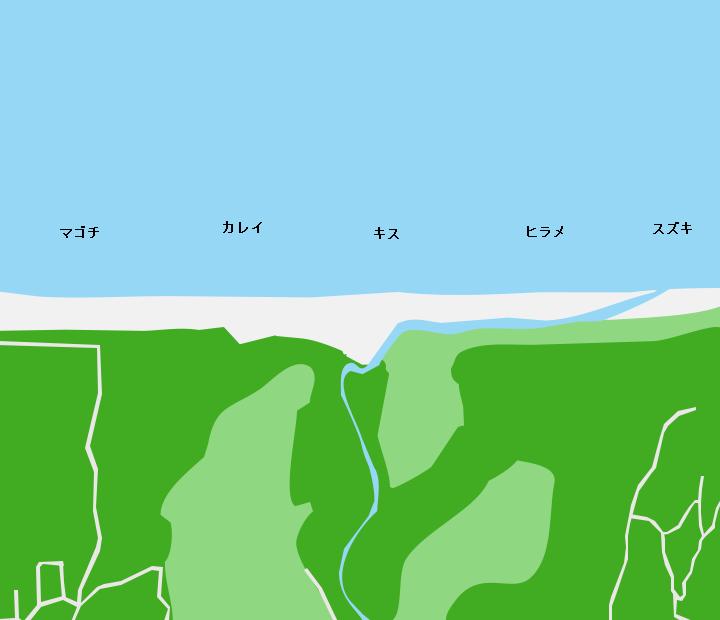 水沢川河口ポイント図