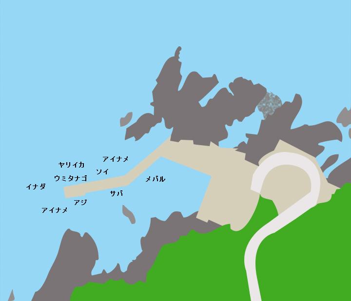 小路漁港ポイント図