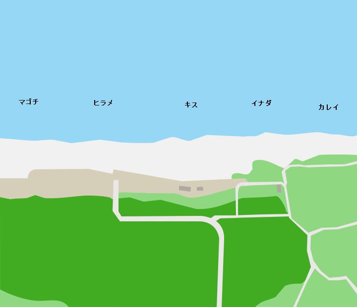 釜谷浜ポイント図