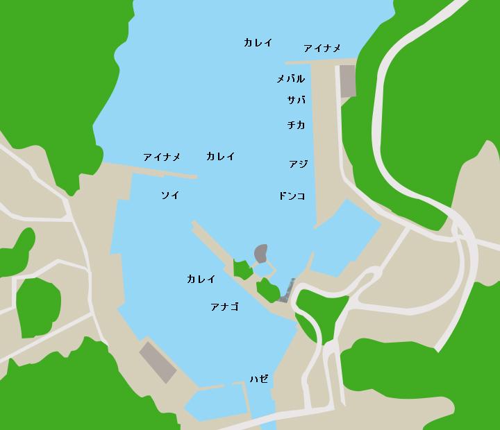 綾里漁港ポイント図