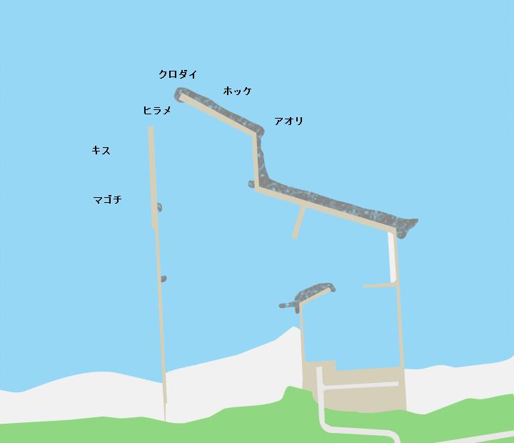 若美漁港ポイント図