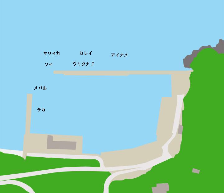 砂子浜漁港ポイント図