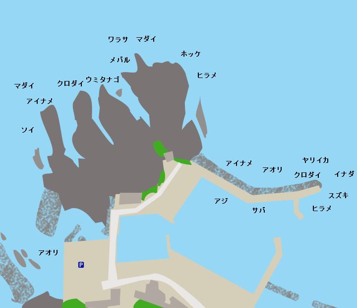 龍飛漁港ポイント図