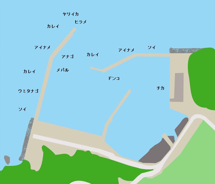 小石浜漁港ポイント図