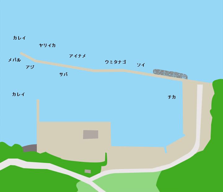 鬼沢漁港ポイント図
