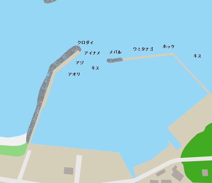 湯ノ尻漁港ポイント図