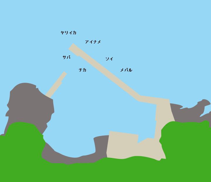 増館漁港ポイント図