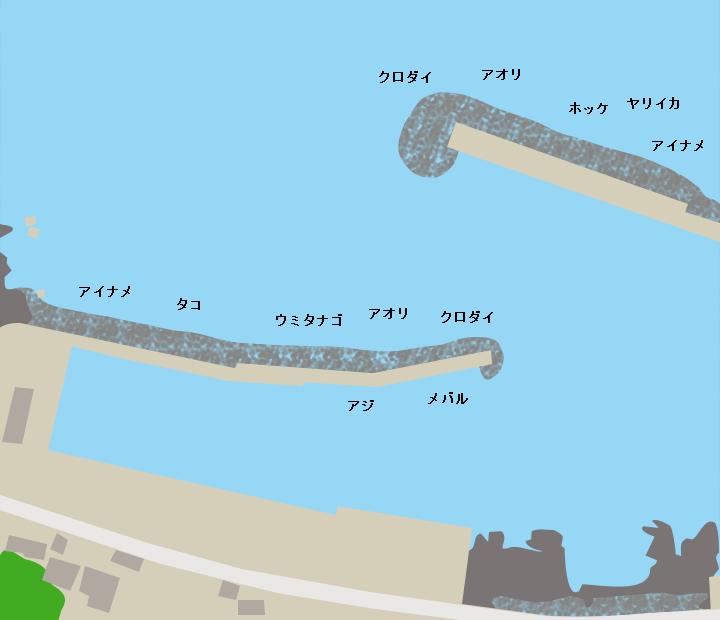 塩浜漁港ポイント図