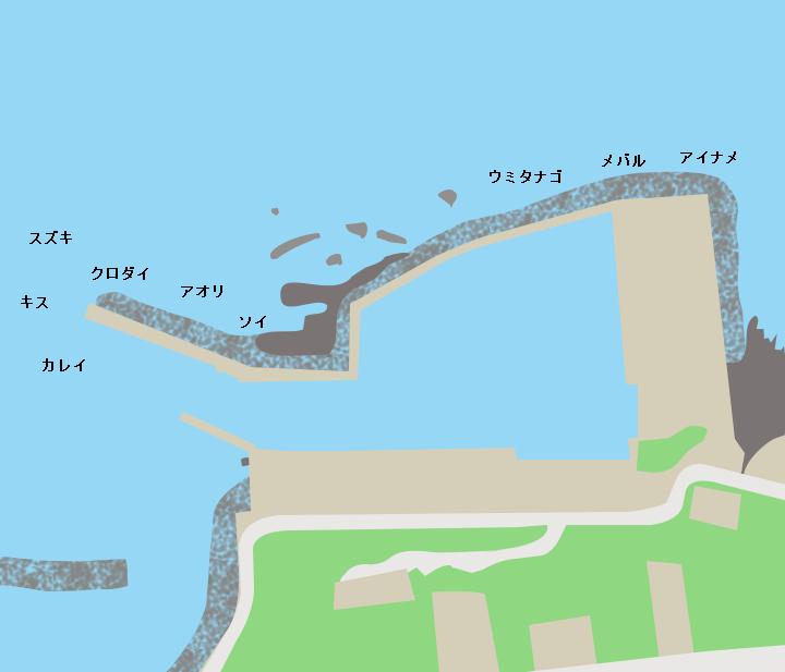 脇元漁港ポイント図