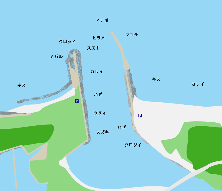 十三湖水戸口ポイント図