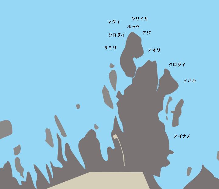 男鹿水族館下ポイント図