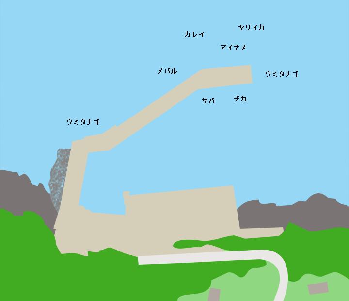 扇洞漁港ポイント図