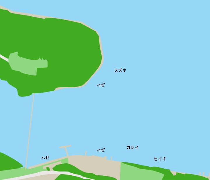 十三湖中の島周辺ポイント図