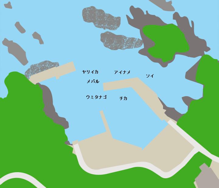 千歳漁港ポイント図