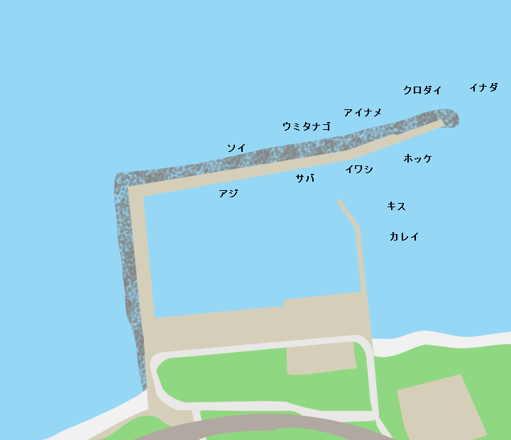 赤石漁港ポイント図